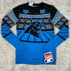 Jacksonville Jaguars Sweater Mens Small Foco LED Speaker NFL Team Ugly Christmas