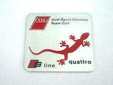 NEW AUDI SPORT GERMANY TEAM GOH BADGE EMBLEM BOOT A3 A4 A5 A6 A8 S3 S4 S6 S LINE