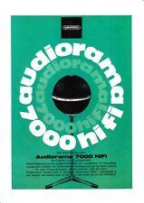 Bedienungsanleitung-Operating Instructions pour Grundig Audiorama 7000
