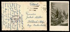 DR WHO 1941 GERMANY WWII CENSORED FELDPOST SNOW POSTCARD C186818