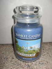Yankee Candle BLUE SUMMER SKY Large Jar 22oz Candle NEW