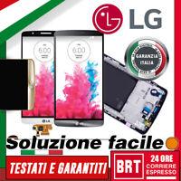 DISPLAY LCD+TOUCH SCREEN+FRAME ORIGINALE PER LG G3 OPTIMUS D855 SCHERMO VETRO!!!