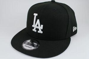 NEW ERA 9FIFTY BASIC SNAPBACK HAT CAP MLB LOS ANGELES LA DODGERS BLACK ADULT MEN