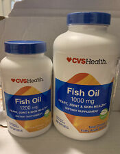 Fish Oil  - 1200/1000 mg Heart Joint Skin Health 370 Softgels Exp3/20- 6/20 Read