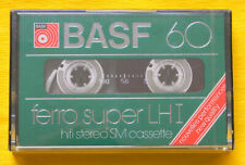 1x BASF ferro super LH I 60 Cassette Tape 1979 + OVP + SEALED + VERY RARE +