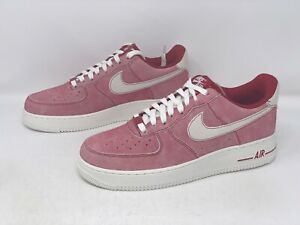 Nike Air Force 1 Dusty Red Suede Sneakers, Size 9 M / 10.5W BNIB DH0265-600