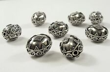 11 x 14mm Antique Bali Style 925 Sterling Silver Oval Bead Limited Edition(#446)