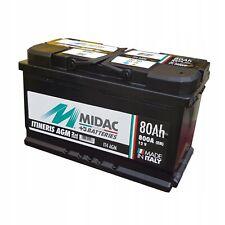 MIDAC IT4 Stop Start 12V 80Ah 800A TYPE 115 AGM VRLA Car Battery - No Spill