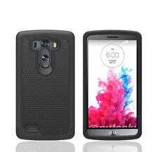 Matte Rubber Hybrid Rugged Shockproof Hard Case Cover Skin For LG G3 - Black