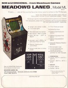 Meadows Lanes Modle ML 1976 Arcade Advertisement 092717DBE
