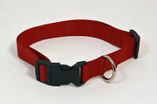 "NEW 1"" Wide Nylon Dog Collar Red Size Large 16""-25"""