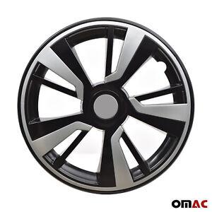 16'' Hubcaps Wheel Rim Cover Black with Light Grey Insert 4pcs Set For Nissan