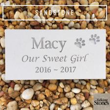 Pet Memorial Plaque - Natural Sandstone - Custom Engraved to Order