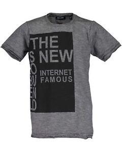 Blue Seven Jungen T-shirt Gr.140-176 Shirt kurzarm grau schwarz Pullover neu!