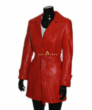 Knee Length Leather Button Other Coats & Jackets for Women
