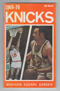 1969-70 New York Knicks Yearbook Official Guide World Champions