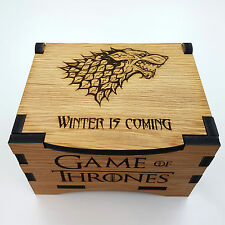 Game Of Thrones House Stark Oak Box with hinged lid
