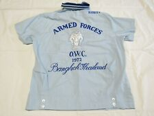 Vtg 1972 Armed Forces Bowling Shirt Bangkok Thailand O.W.C Size Small? 7A1