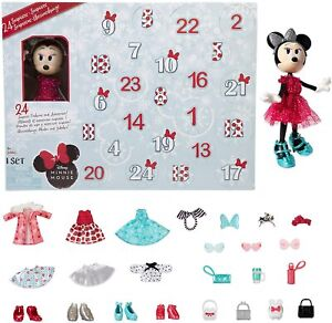 Disney Minnie Mouse Advent Calendar With 24 Day Surprise Fashions and
