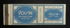 1950s Voisin 575 Park Ave. at 63rd St. NYC NY Matchbook New York