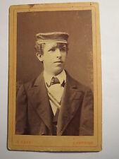 Bamberg - Joh. Adler als Abiturient vom Gymnasium 1878 in Couleur / Abitur - CDV