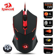 Redragon M601 CENTROPHORUS-3200 DPI Gaming Mouse for PC 6D Weight Tuning NEW AU