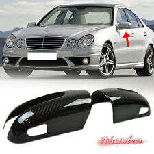Carbon Fiber MERCEDES BENZ W211 Sedan E-CALSS Side View Mirror Cover E320 06-08