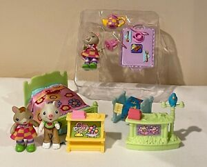 Hideaway Hollow Sweet Streets Mice with Furniture Tina Barry Bed Counter Crib
