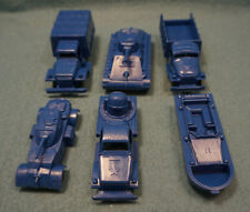 Made in Mexico Plastic Army Vehicle Lot (6) Blue