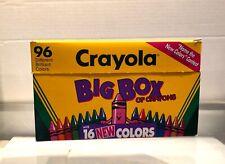 Rare - 1993 Crayola Crayons 90th Anniversary Big Box 96 w/16 New Colors