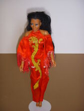 "Vintage CHER 12"" Doll, Mego, 1970's, Red Dragon Dress, SONNY & CHER!"