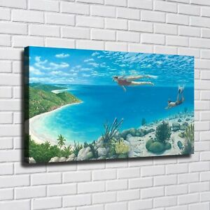 """44x24"""" Rob Gonsalves """"Beyond the Reef"""" HD print on canvas large wall picture"""