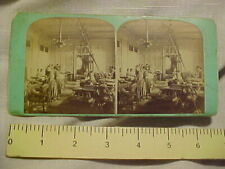 1880s Currency Stereoview U.S. Large Size Paper Money Cutting Room Printing
