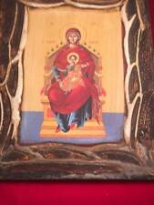 Pre-owned Icon of Mother of God Theotokos and Ever-Virgin Mary Enthroned
