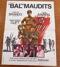 LE BAL DES MAUDITS Affiche cinéma 40x60 DMYTRYK, MARLON BRANDO, DEAN MARTIN