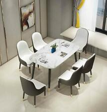 Premium Marble Dining Table and 4/6 Chairs Set 4-seater 6-seater Furniture set