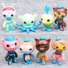 8PCS/pack Octonauts PVC Figures Barnacles Peso Kwazii Dashi Tweak Toys Kids Gift