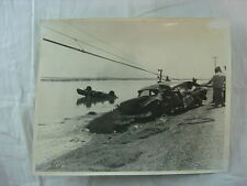 Vintage Car Photo 1957 Ford Automobile Unusual Wreck in Water 793