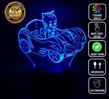 Pj Masks CatBoy 3D Acrylic LED 7 Colour Night Light Touch Table Desk Lamp Gift