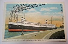 VINTAGE 1927 STEAMER SHIP BOAT HAMONIC DULUTH MINNESOTA MINING RAILROAD POSTCARD
