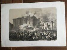 Lithographie - Prise de la Bastille. 14 juillet 1789.
