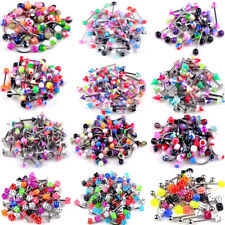 Wholesale 105Pcs Body Jewelry Eyebrow Navel Belly Tongue Nose Piercing Bar Rings