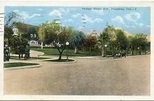 Orange Grove Ave. Pasadena, Cal - 7 White Border Postcard Posted