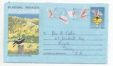 1985 AUSTRALIA Aerogramme LEIGHTONFIELD to REIGATE Illustrated Stationery Magpie