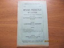 Revue Médicale de Louvain N°22 1933 La guerre microbienne