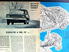 FORD ZEPHYR 6 Mk IV -1966 - Road Test cut from AUTOCAR PLUS Launch Article