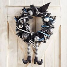 """NWT PIER 1 IMPORTS $119  LARGE WICKED WITCH LEGS AND HAT  WREATH  22"""" ACROSS"""