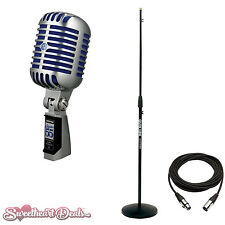 Shure Super 55 Deluxe Classic Vocal Microphone with Mic Stand and XLR Cable