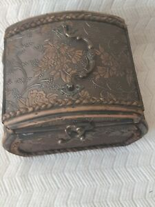 Wooden Box, very nice wooden box. With details of grape, flowers.