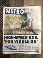 Kylie Minogue 50th Birthday Newspaper - Rare